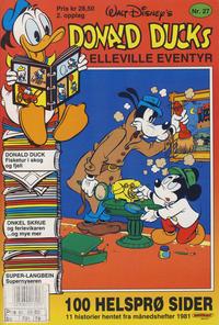 Cover Thumbnail for Donald Ducks Elleville Eventyr (Hjemmet / Egmont, 1986 series) #27 [Reutsendelse]