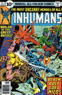 Cover Thumbnail for The Inhumans (Marvel, 1975 series) #6 [British]