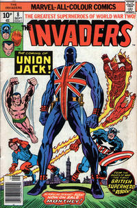 Cover Thumbnail for The Invaders (Marvel, 1975 series) #8 [British Price Variant]