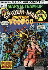 Cover Thumbnail for Marvel Team-Up (Marvel, 1972 series) #24 [British]