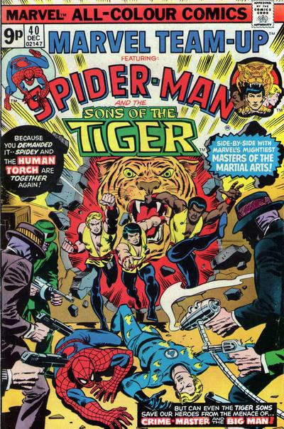 Cover for Marvel Team-Up (Marvel, 1972 series) #40