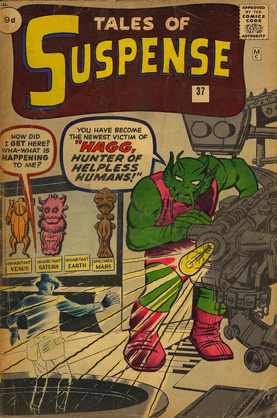 Cover for Tales of Suspense (Marvel, 1959 series) #37