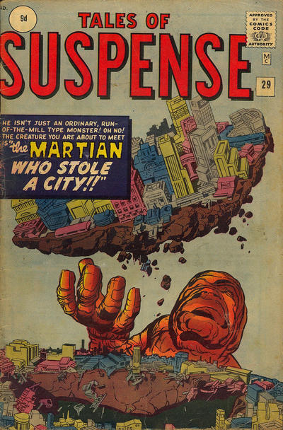 Cover for Tales of Suspense (Marvel, 1959 series) #29