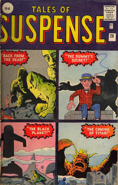 Cover for Tales of Suspense (Marvel, 1959 series) #28