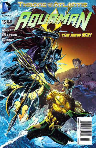 Cover for Aquaman (DC, 2011 series) #15 [Blank Variant Cover]