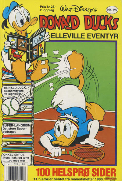 Cover for Donald Ducks Elleville Eventyr (Hjemmet / Egmont, 1986 series) #25 [Reutsendelse]