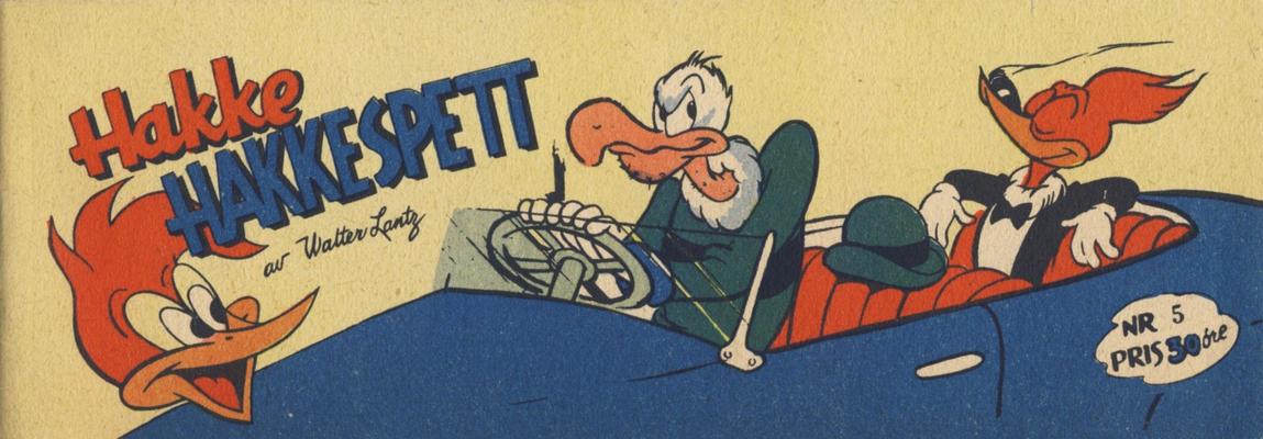 Cover for Hakke Hakkespett (Serieforlaget / Se-Bladene / Stabenfeldt, 1957 series) #5 [1958]