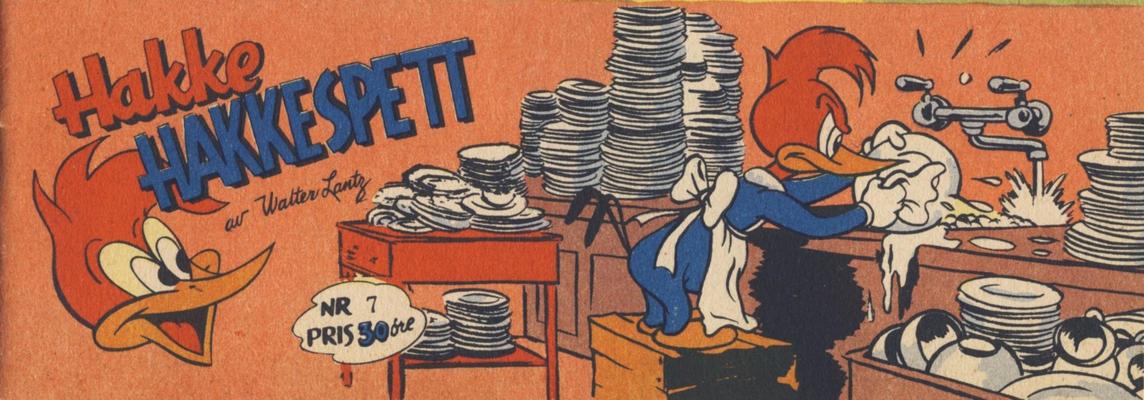 Cover for Hakke Hakkespett (Serieforlaget / Se-Bladene / Stabenfeldt, 1957 series) #7 [1958]