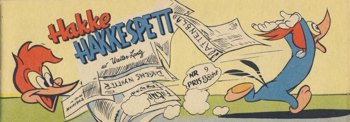 Cover for Hakke Hakkespett (Serieforlaget / Se-Bladene / Stabenfeldt, 1957 series) #9 [1958]