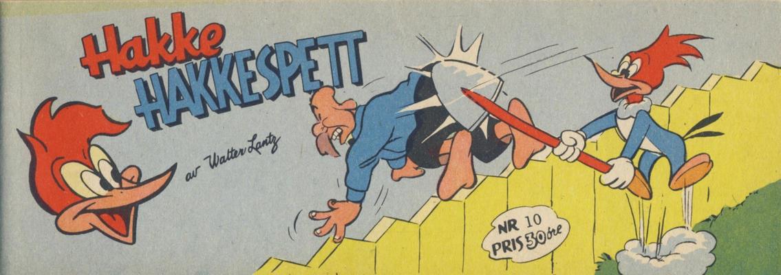 Cover for Hakke Hakkespett (Serieforlaget / Se-Bladene / Stabenfeldt, 1957 series) #10 [1958]