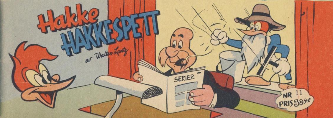 Cover for Hakke Hakkespett (Serieforlaget / Se-Bladene / Stabenfeldt, 1957 series) #11 [1958]