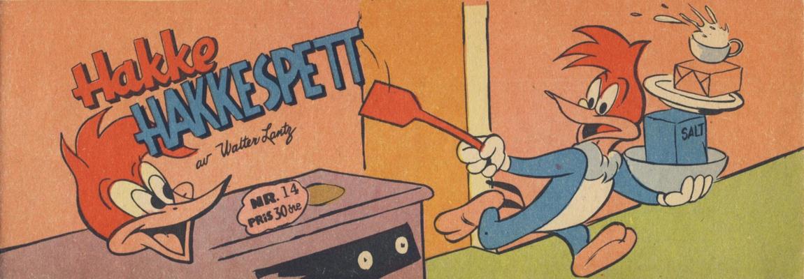 Cover for Hakke Hakkespett (Serieforlaget / Se-Bladene / Stabenfeldt, 1957 series) #14 [1958]