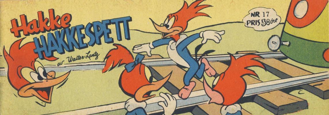 Cover for Hakke Hakkespett (Serieforlaget / Se-Bladene / Stabenfeldt, 1957 series) #17 [1958]