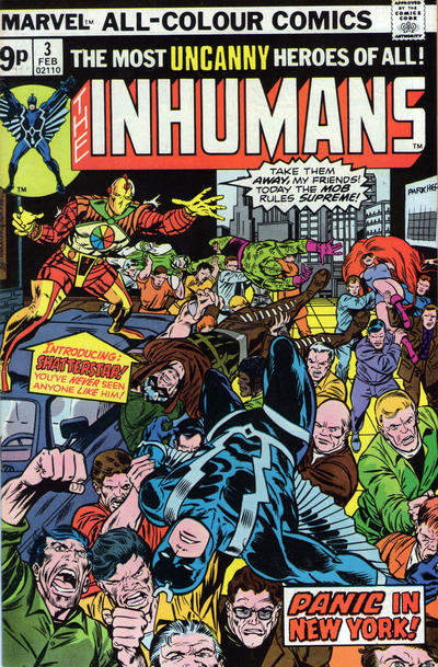 Cover for The Inhumans (Marvel, 1975 series) #3 [British]