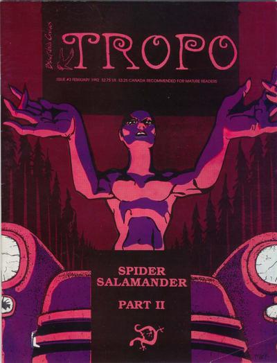 Cover for Tropo (Blackbird Comics, 1990 series) #3