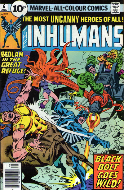 Cover for The Inhumans (Marvel, 1975 series) #6 [25¢]