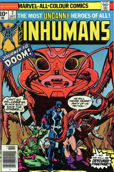 Cover for The Inhumans (Marvel, 1975 series) #7 [Regular Edition]