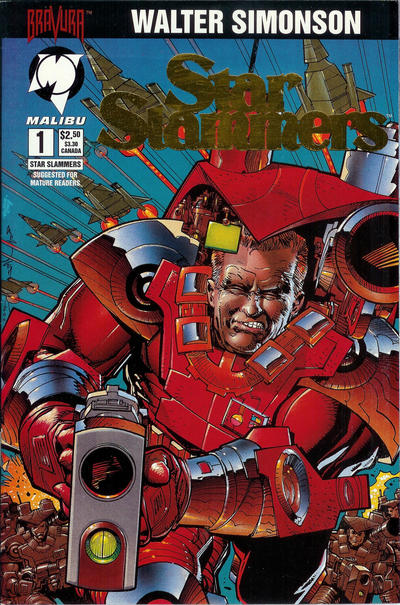 Cover for Star Slammers (Malibu, 1994 series) #1 [Gold Foil Edition]