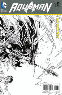 Cover Thumbnail for Aquaman (DC, 2011 series) #15 [Eddy Barrows Black & White Wraparound Variant]