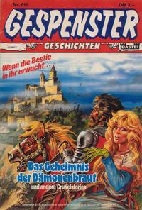 Cover Thumbnail for Gespenster Geschichten (Bastei Verlag, 1974 series) #615