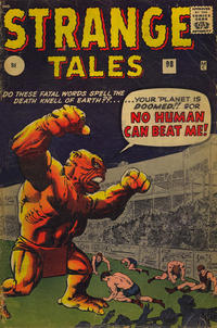Cover Thumbnail for Strange Tales (Marvel, 1951 series) #98 [UK Edition]