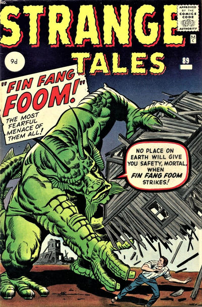 Cover for Strange Tales (Marvel, 1951 series) #89 [UK Edition]