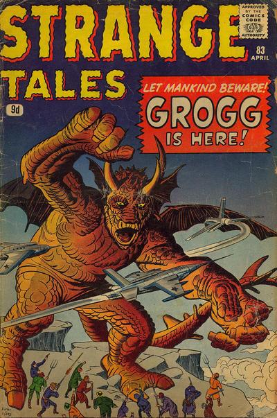 Cover for Strange Tales (Marvel, 1951 series) #83 [UK Edition]