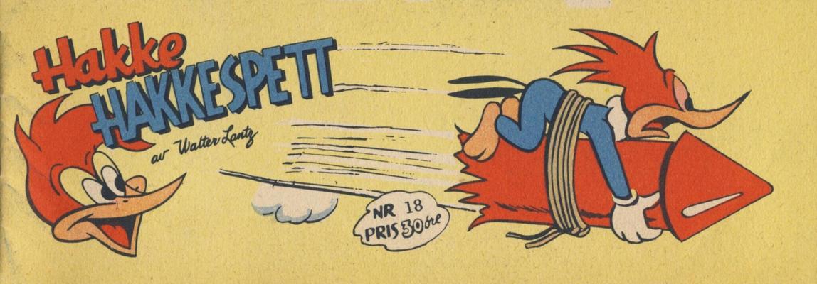 Cover for Hakke Hakkespett (Serieforlaget / Se-Bladene / Stabenfeldt, 1957 series) #18 [1958]