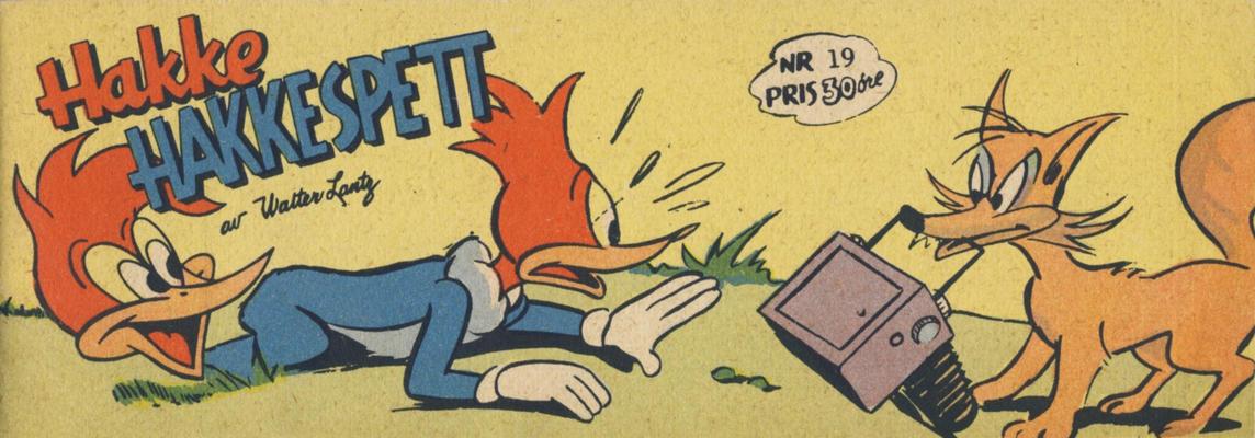 Cover for Hakke Hakkespett (Serieforlaget / Se-Bladene / Stabenfeldt, 1957 series) #19 [1958]
