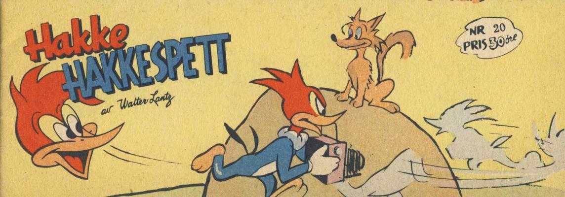 Cover for Hakke Hakkespett (Serieforlaget / Se-Bladene / Stabenfeldt, 1957 series) #20 [1958]