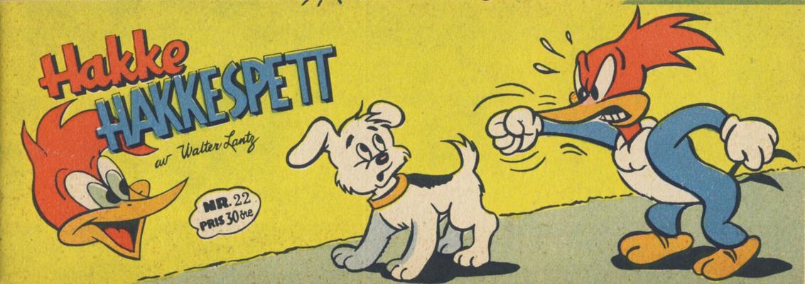 Cover for Hakke Hakkespett (Serieforlaget / Se-Bladene / Stabenfeldt, 1957 series) #22 [1958]