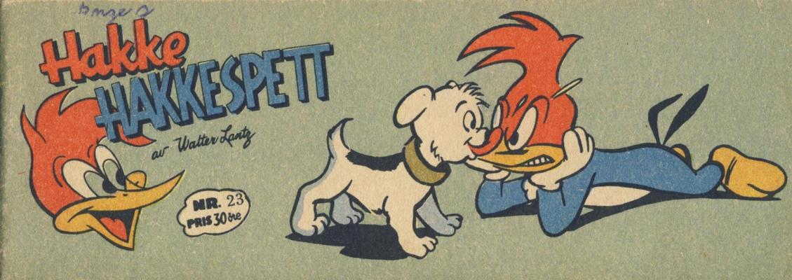 Cover for Hakke Hakkespett (Serieforlaget / Se-Bladene / Stabenfeldt, 1957 series) #23 [1958]