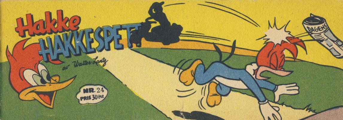 Cover for Hakke Hakkespett (Serieforlaget / Se-Bladene / Stabenfeldt, 1957 series) #24 [1958]