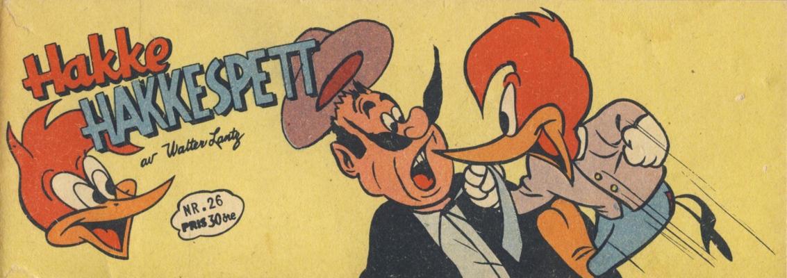 Cover for Hakke Hakkespett (Serieforlaget / Se-Bladene / Stabenfeldt, 1957 series) #26/1958