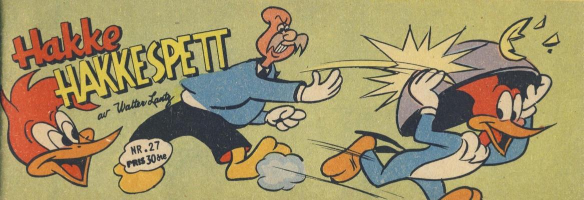 Cover for Hakke Hakkespett (Serieforlaget / Se-Bladene / Stabenfeldt, 1957 series) #27/1958