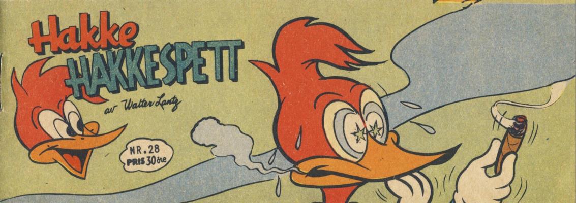 Cover for Hakke Hakkespett (Serieforlaget / Se-Bladene / Stabenfeldt, 1957 series) #28/1958