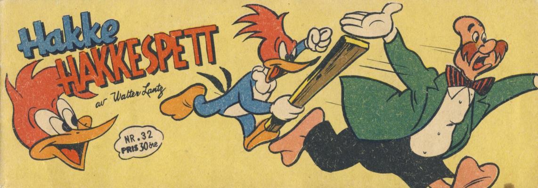 Cover for Hakke Hakkespett (Serieforlaget / Se-Bladene / Stabenfeldt, 1957 series) #32/1958
