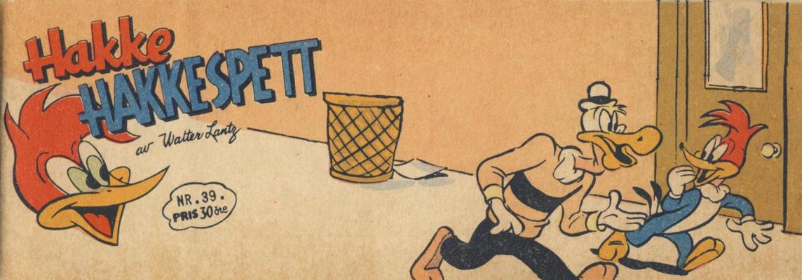 Cover for Hakke Hakkespett (Serieforlaget / Se-Bladene / Stabenfeldt, 1957 series) #39/1958