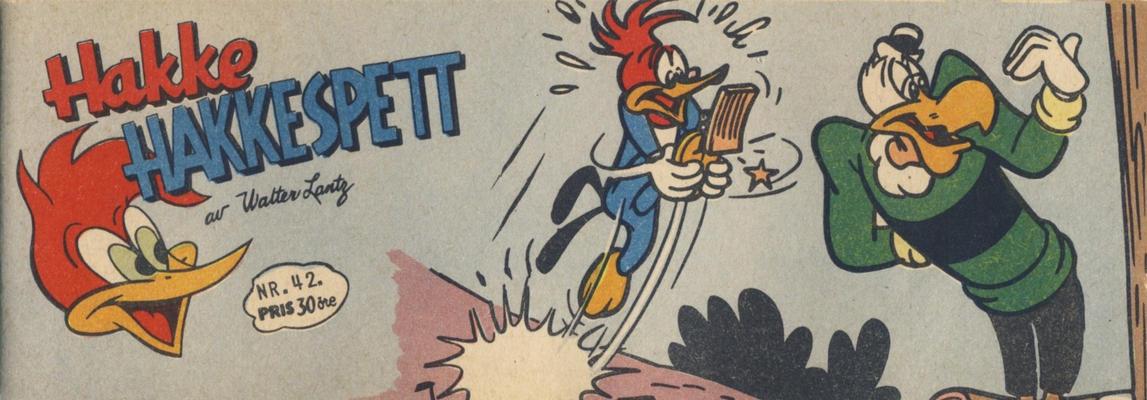 Cover for Hakke Hakkespett (Serieforlaget / Se-Bladene / Stabenfeldt, 1957 series) #42/1958