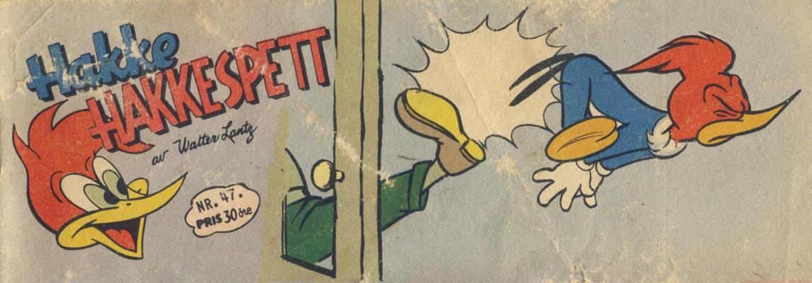 Cover for Hakke Hakkespett (Serieforlaget / Se-Bladene / Stabenfeldt, 1957 series) #47/1958