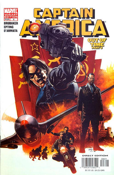 Cover for Captain America (Marvel, 2005 series) #6 [Cover B]