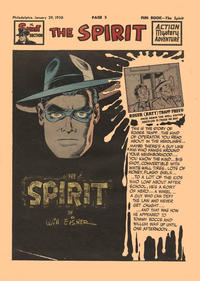 Cover Thumbnail for The Spirit (Register and Tribune Syndicate, 1940 series) #1/29/1950