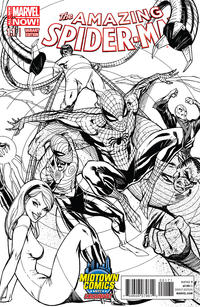 Cover Thumbnail for The Amazing Spider-Man (Marvel, 2014 series) #1.1 [J. Scott Campbell Midtown Comics Sketch Variant]