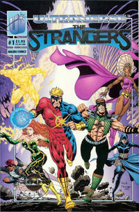 Cover Thumbnail for The Strangers (Malibu, 1993 series) #1 [Ultra 5000 Limited Silver Foil Edition]