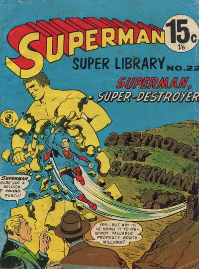 Cover for Superman Super Library (K. G. Murray, 1964 series) #22