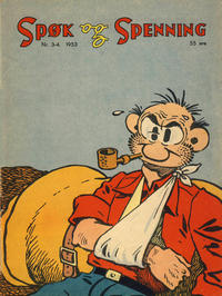 Cover Thumbnail for Spøk og Spenning (Oddvar Larsen; Odvar Lamer, 1950 series) #3-4/1953