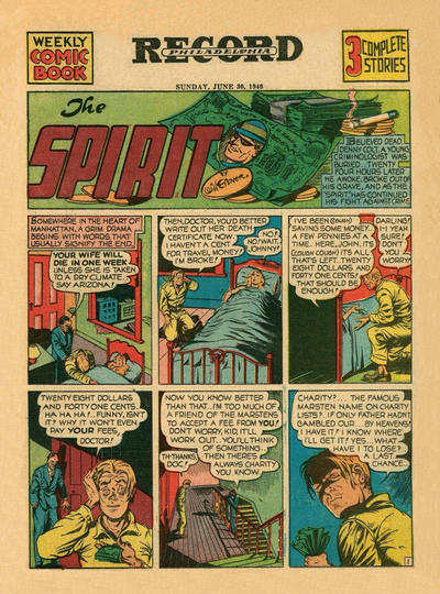 Cover for The Spirit (Register and Tribune Syndicate, 1940 series) #6/30/1940