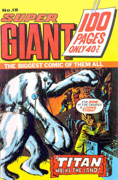 Cover for Super Giant (K. G. Murray, 1973 series) #15