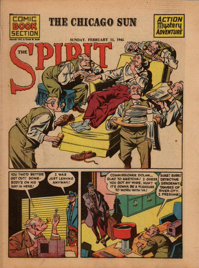 Cover for The Spirit (Register and Tribune Syndicate, 1940 series) #2/11/1945