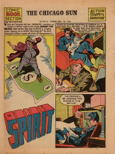 Cover for The Spirit (Register and Tribune Syndicate, 1940 series) #2/18/1945